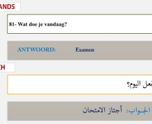 امتحان اللغة الهولندية Spreekvaardigheid 2:Vraag beantwoorden